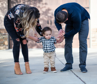 A Boy Who Had Spinal Surgery in the Womb Stands on His Own Two Feet